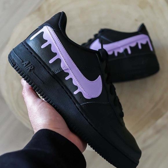 Nike Shoes   Custom Black Air Force